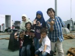 Di atas kapal fery menuju Bakauheni, Lampung